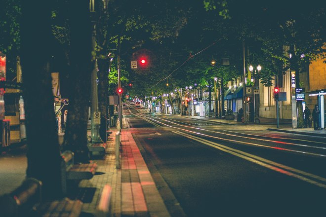 Downtown_Portland_Oregon_at_Night_(18103693355)